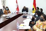 Ghana's delegation were present at the virtual meeting
