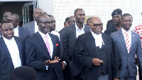 Ayikoi Otoo(second from the left) led PPP's counsel in Court against the EC