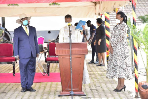 Museveni Janet Swearing In As Minister