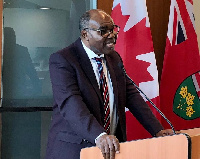 Ayikoi Otoo, Ghana's high commissioner to Canada at the 2018 Commonwealth Africa Forum