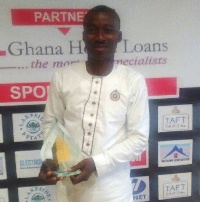 The young Chief Executive Officer (CEO), Frank Aboagye Danyansah received a plaque