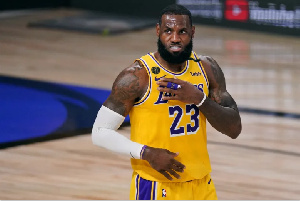 Lebron James plays for the Los Angeles Lakers