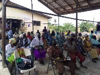 The women were drawn from three Communities Kojokrom, Bakado and Shama