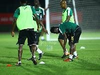 Black Stars final training in Stade de Port-gentil