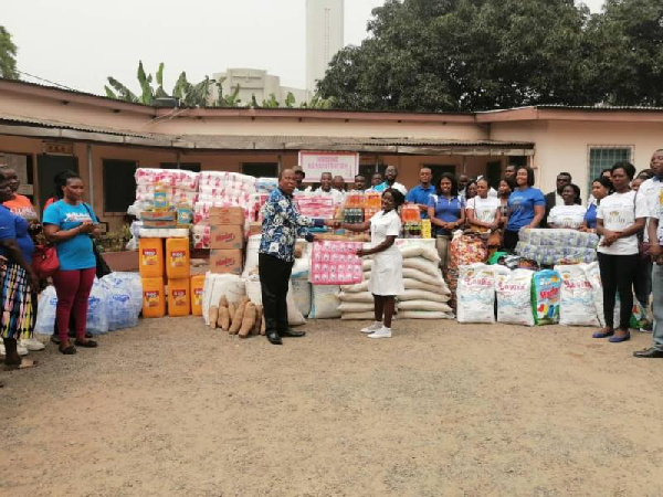 Royal House Chapel gives to Accra Psychiatric Hospital