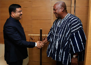 CEO, Tata Group, Cyrus Pallonji Mistry meets President John Mahama