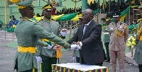 Vice President Dr. Bawumia inspecting a guard of honour
