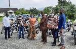 2020 elections: Atiwa East MP Abena Osei donates 13 motorbikes to boost campaign