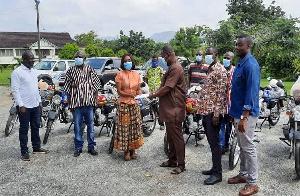 Abena Osei Asare Donating Ythgt