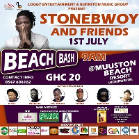 Stonebwoy 1st July beach bash