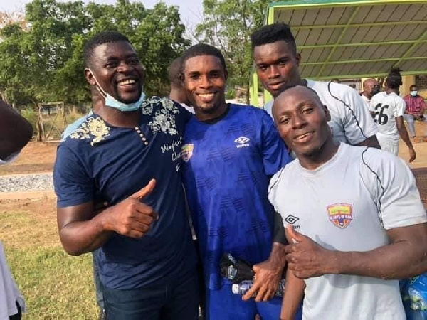 New Hearts of Oak coach Samuel Boadu meets players