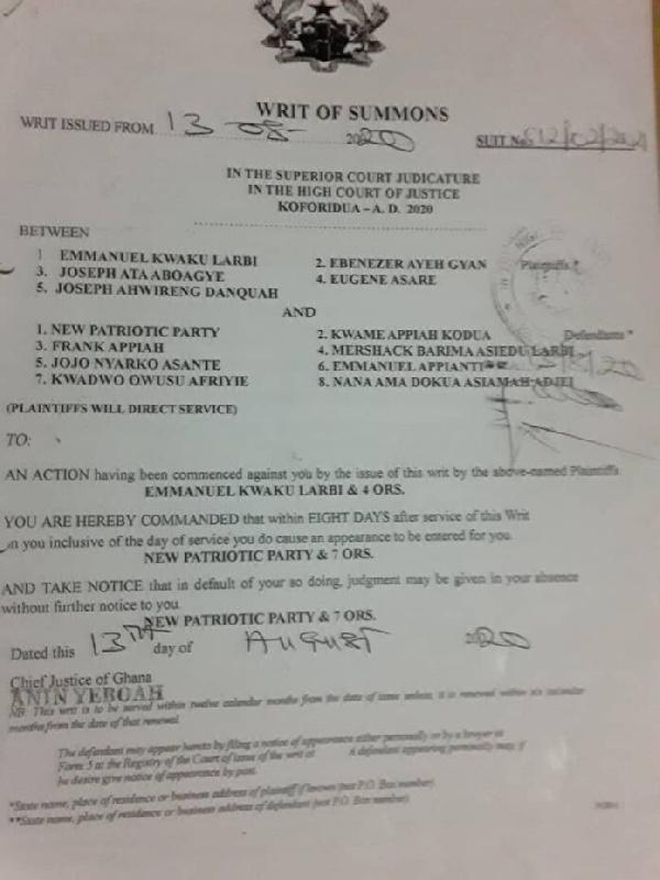 Election 2020: Dep. Information Minister Dokua cited for contempt over filing 1