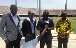 Kojo Baah Agyemang addressing media men at the media launch