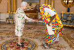 Papa Owusu-Ankomah, Ghana's High Commissioner to the United Kingdom with Queen Elizabeth