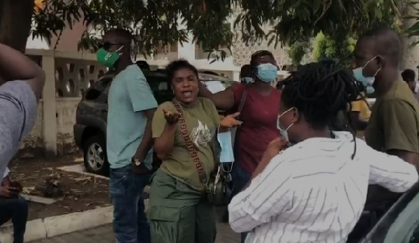 Youth in Afforestation workers storm Finance Ministry over 5 months unpaid allawa