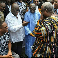 Akufo Addo[L] and President Mahama