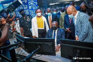 Vice-President Mahamudu Bawumia at the launch of the Digital Retail Fuel Monitoring System