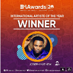 Joseph Matthew wins 'International Artiste of the Year' at EM Awards 2020