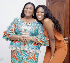 Mrs Rebecca Akufo-Addo with Yvonne Nelson