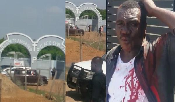 Rev Obofour's boys brutalize staff of Tema West Assembly for demanding building permit