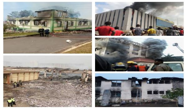 Notable government institutions razed down by fire
