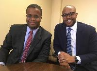 N. Kweku Nduom (left) and his brother, P.W. Chiefy Nduom