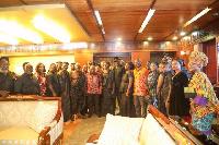 President Nana Addo Dankwa Akufo-Addo with the delegation