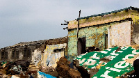 Ruins of the demolished Sea View Hotel