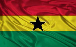 The flag of Ghana