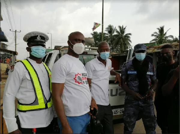 Coronavirus: Ghana Police Service embarks on sensitization at market places in Ellembelle