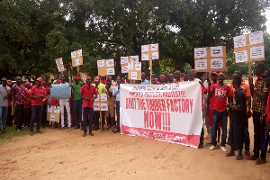 Residents demonstrated through the principal streets of Tumu