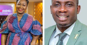 Counselor Lutterodt (R) and Gifty Anti