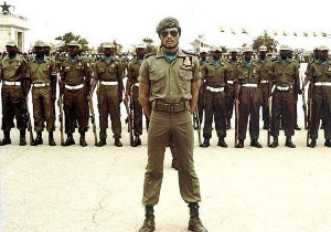 Former President JJ Rawlings during his days as a soldier