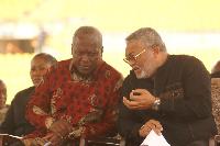 Late Jerry John Rawlings with John Mahama