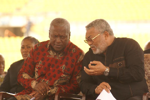 Late Jerry John Rawlings with John Mahama