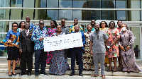 Officials of Covid-19 Private Sector Fund and the reps of the missions in a group photo