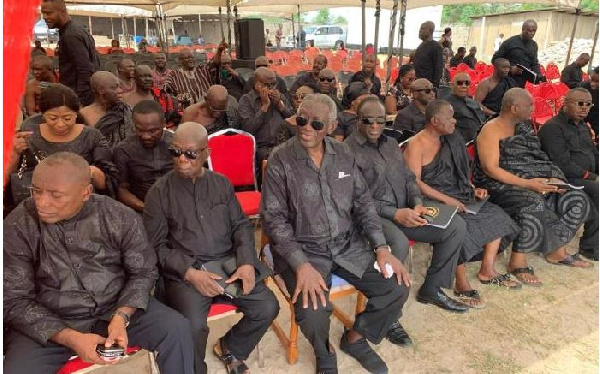 President Kufour leads delegation to Amematekpor's funeral at Agbozume