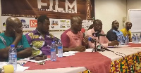 Zylofon Arts Fund Communications Director, Frank Kwabena Owusu with organizers of Ghana Film week