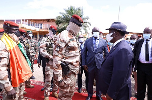 Junta leader Mamady Doumbouya met with Ivorian leader Alassane Ouattara in Conakry