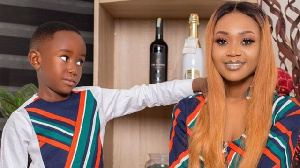 Akuapem Poloo with her son