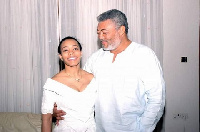 Jerry John Rawlings with daughter, Dr. Zanetor Rawlings