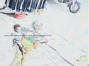 The suspect was captured by CCTV leaving the market with the baby