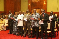 Newly appointed minister pledging their allegiance to serve mother Ghana