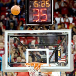 File photo - A basketball clock