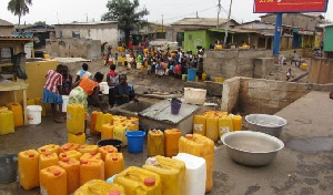 The area has suffered water shortage for the past one month