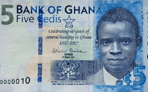 J.E Kwegyir-Aggrey is the face on Ghana 5 Cedi note