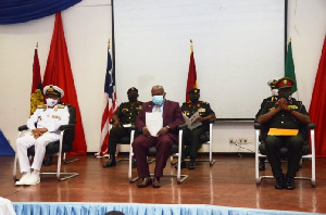 Present at the ceremony were; the Deputy Commandant, Brig Gen Adu, the incoming Assistant Commandan