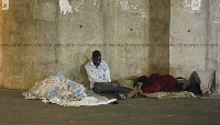 Amos Atanga Atia, a visually-impaired and a graduate now homeless