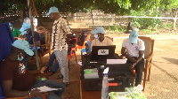 Some electorates at the registration center