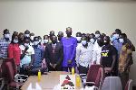 GOC President, Ben Nunoo Mensah with Media Attaches